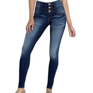 No Boundaries Triple Stack High Waisted Skinny Blue Jeans